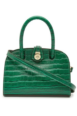 Manu Atelier - Micro Ladybird Leather Handbag - green