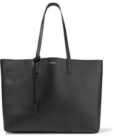 Shopper Large Textured-leather Tote - Black