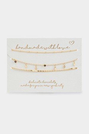 Handmade For You Heart Bracelet Set   francesca's
