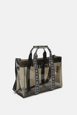 VINYL SHOPPER WITH SLOGANS - View all-BAGS-WOMAN-SALE | ZARA United States