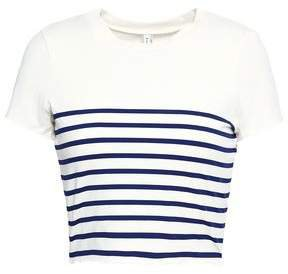 Meghan Cropped Striped Stretch-jersey T-shirt