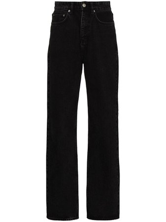 Shop black Ksubi Playback high-waisted straight-leg jeans with Express Delivery - Farfetch
