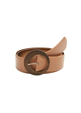 MANGO Wood buckle belt