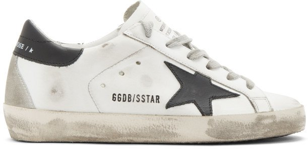 White and Black Superstar Sneakers