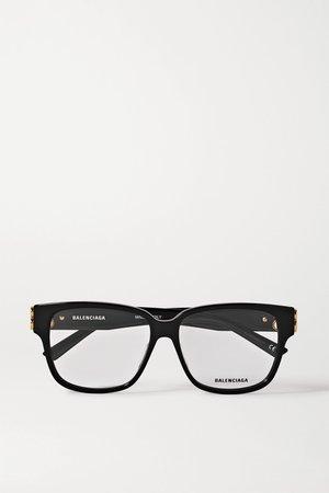 Black Square-frame acetate optical glasses | Balenciaga | NET-A-PORTER
