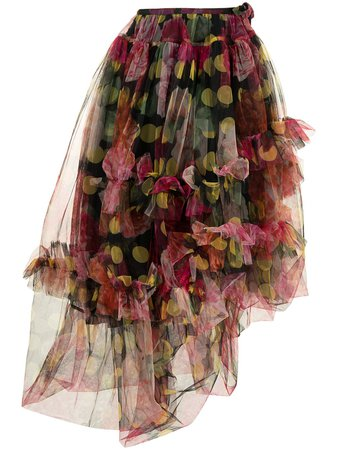 Shop Molly Goddard floral-print tulle skirt with Express Delivery - FARFETCH