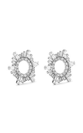 Amina Muaddi crystal earrings