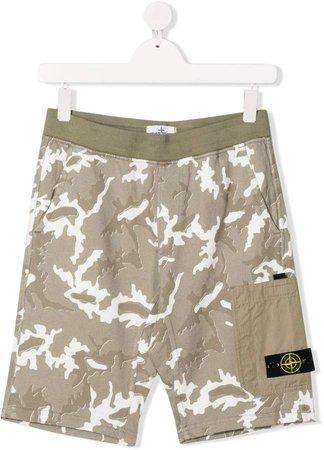 Junior TEEN camouflage-print shorts