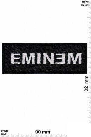 Eminem Silver Black Patch Badge Embroidered Iron on Applique | Etsy