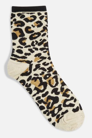 Leopard Metallic Thread Socks - Socks & Tights - Clothing - Topshop