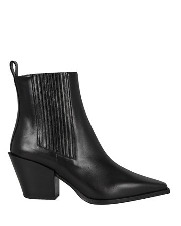 Kate Leather Cuban Heeled Booties