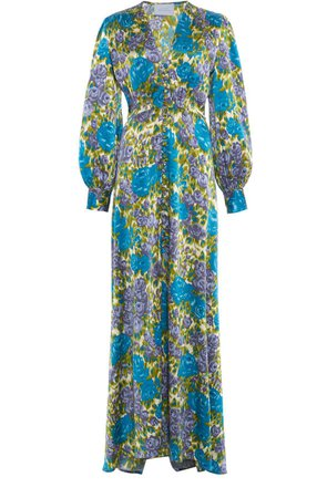 Luisa Beccaria Printed Maxi Dress