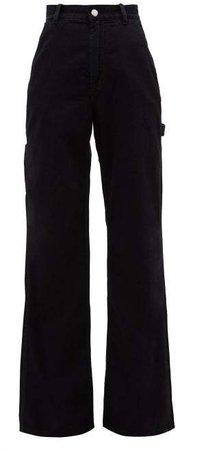 Munro High Rise Wide Leg Jeans - Womens - Black