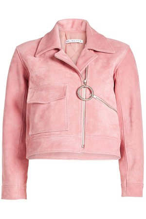 Cropped Suede Jacket Gr. UK 12
