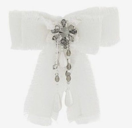 White Bow Brooch