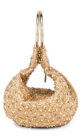 From St Xavier Mini Pearl Ring Bag in Champagne | REVOLVE
