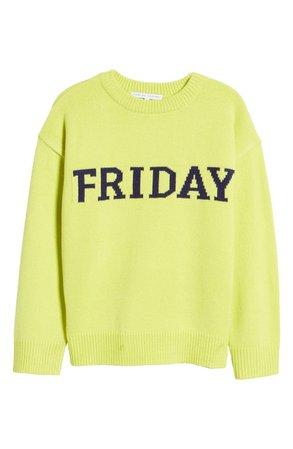 English Factory Weekday Motif Sweater | Nordstrom
