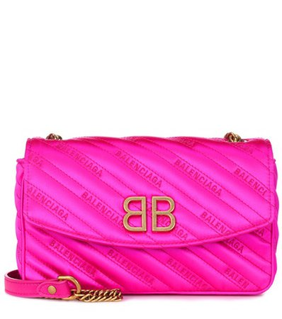 BB Round satin shoulder bag
