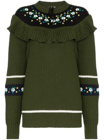 Miu Miu floral knit jumper £1,420 - Shop Online. Same Day Delivery in London