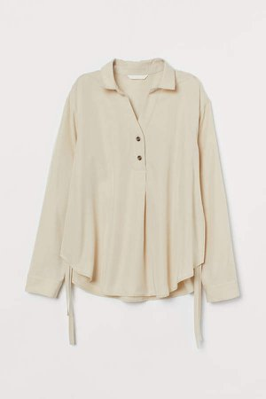 MAMA Lyocell Nursing Blouse - White