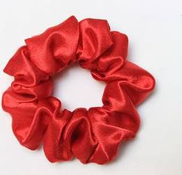 red satin scrunchie - Google Search