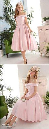 Light Pink Off the Shoulder Dress