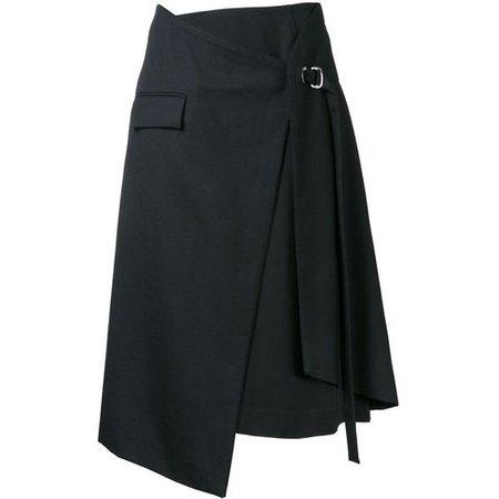 Taro Horiuchi layered wrap skirt
