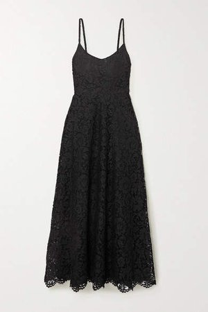 Corded Lace Gown - Black