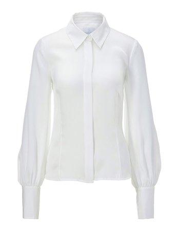 Blouse, wool white, white | MADELEINE Fashion