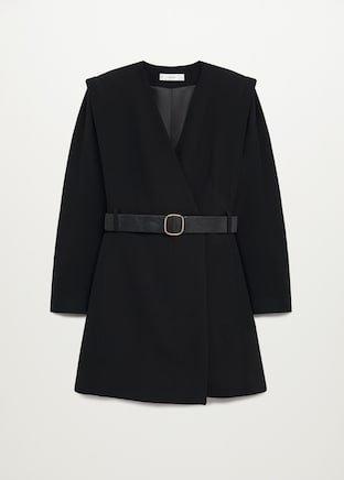 Belt wrap dress - Woman   Mango South Korea