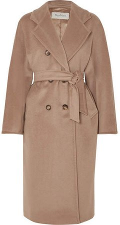 101801 Icon Double-breasted Wool And Cashmere-blend Coat - Camel