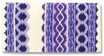 Mayatex Riverland Wrap Wool Saddle Blanket - Purple