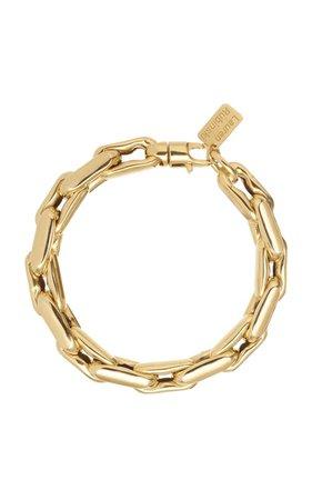 14k Yellow Gold Medium Lucky Gold Links Bracelet By Lauren Rubinski | Moda Operandi