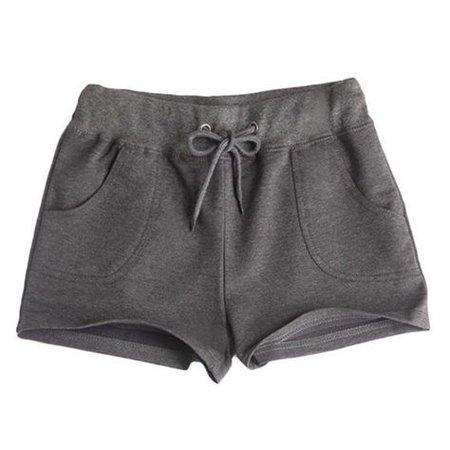 pajama shorts dark grey