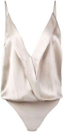 Michelle Mason cami wrap bodysuit
