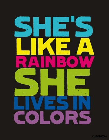 rainbow style quote - Google Search