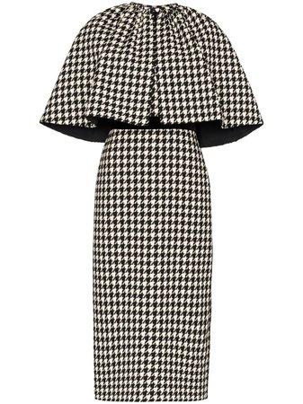 Gucci Houndstooth Cape Dress - Farfetch