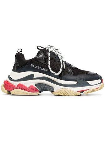 Balenciaga Triple S lace-up sneakers black 524037W09O1 - Farfetch