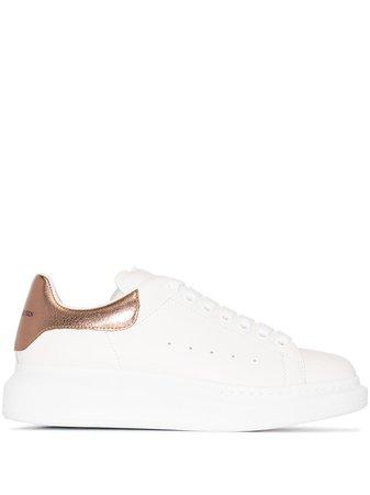 Alexander McQueen Oversized Leather Sneakers - Farfetch