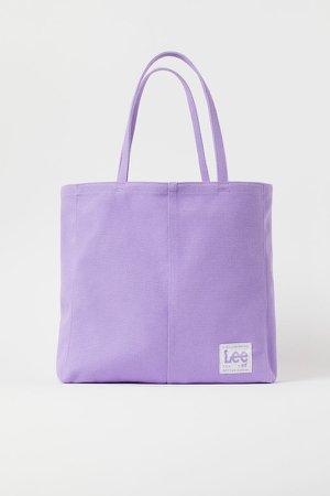 Canvas Shopper - Purple