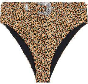 + We Wore What Emily Belted High-rise Bikini Briefs