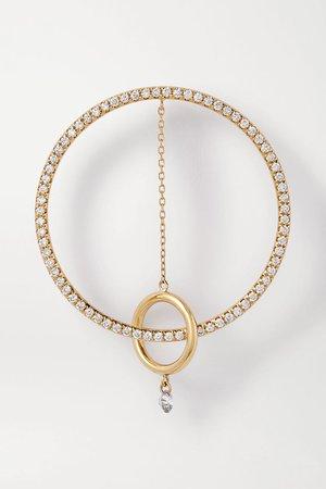 Gold Orbite 18-karat gold diamond earring | Persée | NET-A-PORTER