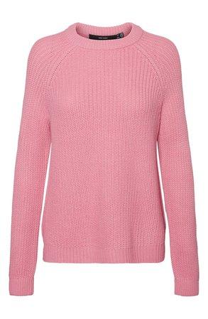 VERO MODA Shaker Stitch Crewneck Sweater | Nordstrom