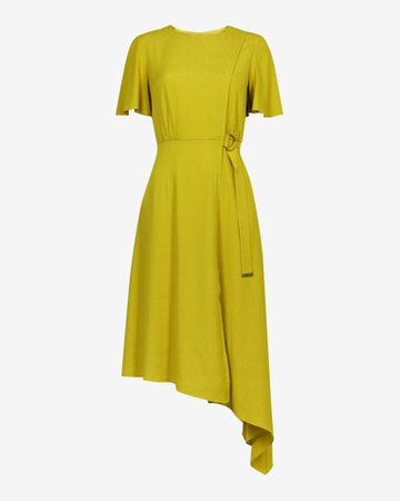 Asymmetric D ring detail dress - Light Green | Dresses | Ted Baker UK