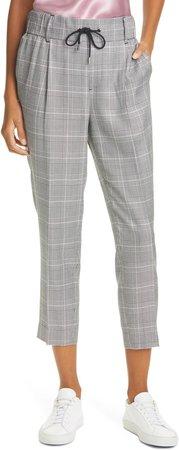 Glen Plaid Crop Pants