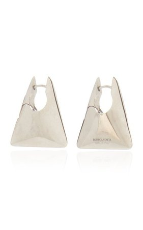 Silver Triangle Earrings By Bottega Veneta | Moda Operandi