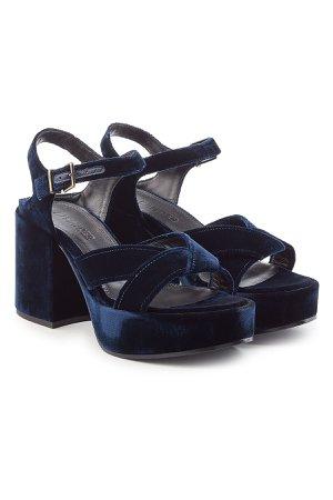 Velvet Platform Sandals Gr. IT 40