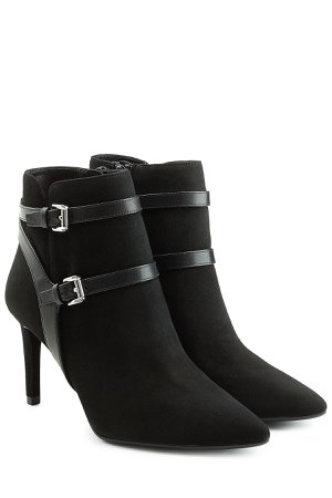 Suede Ankle Boots with Leather Straps Gr. US 9