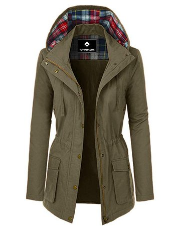 TOP LEGGING TL Women's Utility Anorak Jackets - Lightweight Military Parkas Junior Plus Size at Amazon Women's Coats Shop