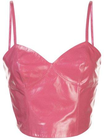 Fleur Du Mal Patent Seamed Camisole TP02960523 Pink   Farfetch